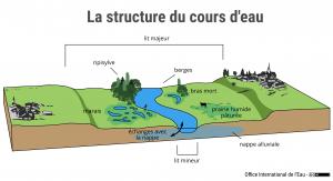 La structure du cours d'eau