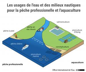 Les usages de l'eau et des milieux aquatiques pour la pêche professionnelle et l'aquaculture