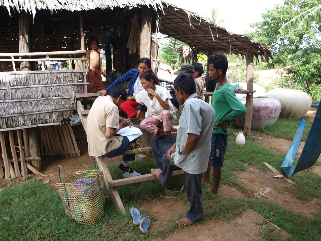 Enquête de terrain sur l'utilisation domestique de l'eau - Stung Sen - Cambodge