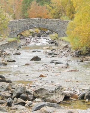 Pont de pierre sur le gave de Gavarnie