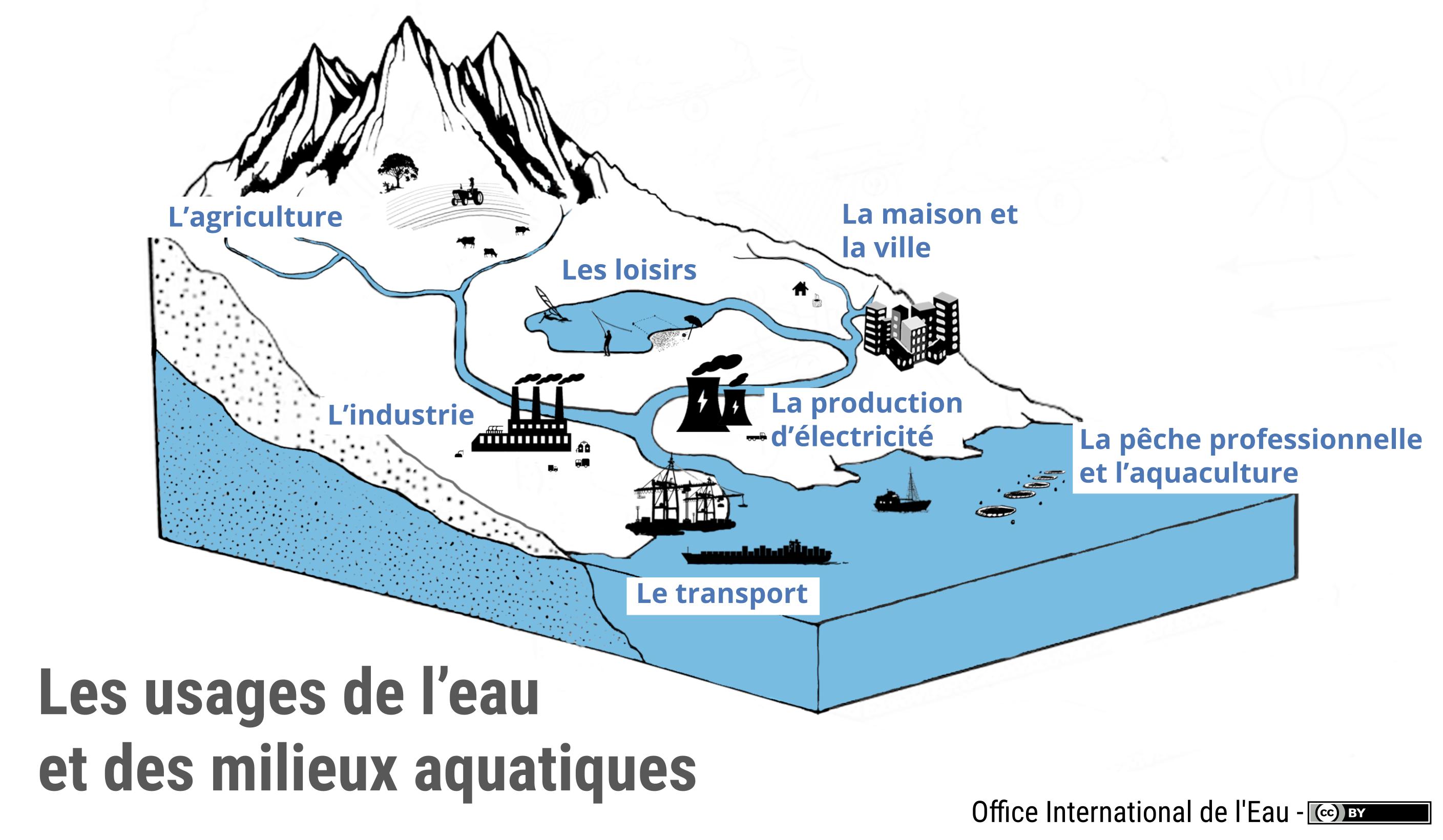 Les usages de l 39 eau et des milieux aquatiques office - Office national de l eau et des milieux aquatiques ...