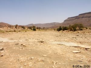 Oued à sec en Mauritanie