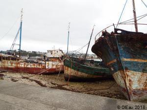 Bateaux de pêche rouillés