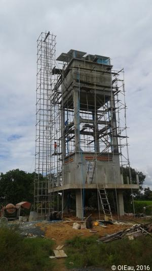 Construction station eau potable - Association Kraing Speu - Thmey - Cambodge