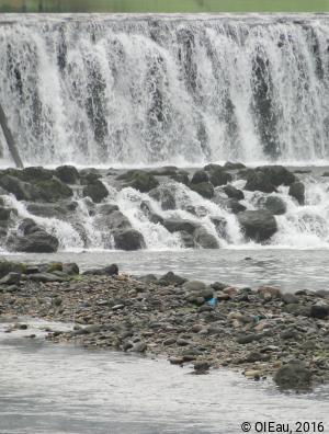 Enrochement sous barrage