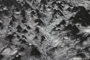 Glaciers - cônes de terre (dirt cones) - détail