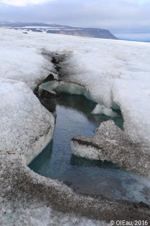 Fonte de glacier - détail
