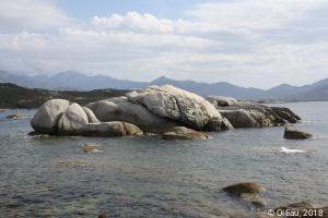 Rocher en baie d'Algajo