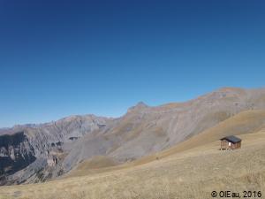 Pâturage de montagne - cabane berger