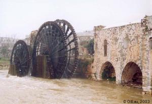 Roues à eau triplettes d'Hama